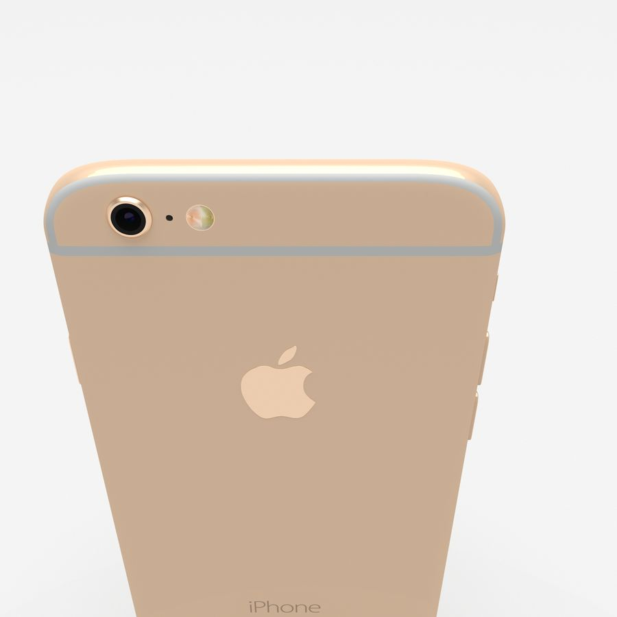 Iphone 6S Gold royalty-free modelo 3d - Preview no. 11