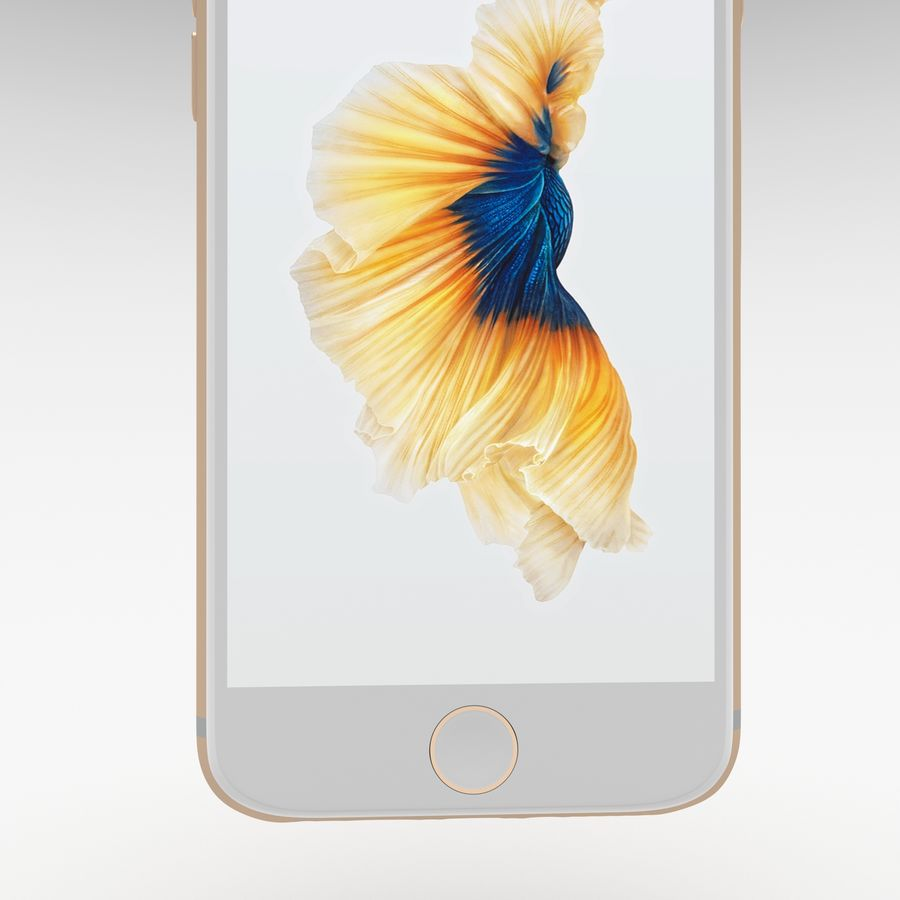 Iphone 6S Gold royalty-free modelo 3d - Preview no. 13