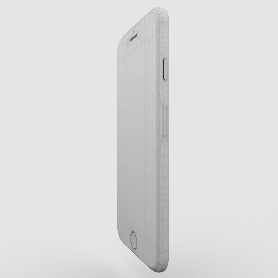 Iphone 6S Gold royalty-free modelo 3d - Preview no. 17