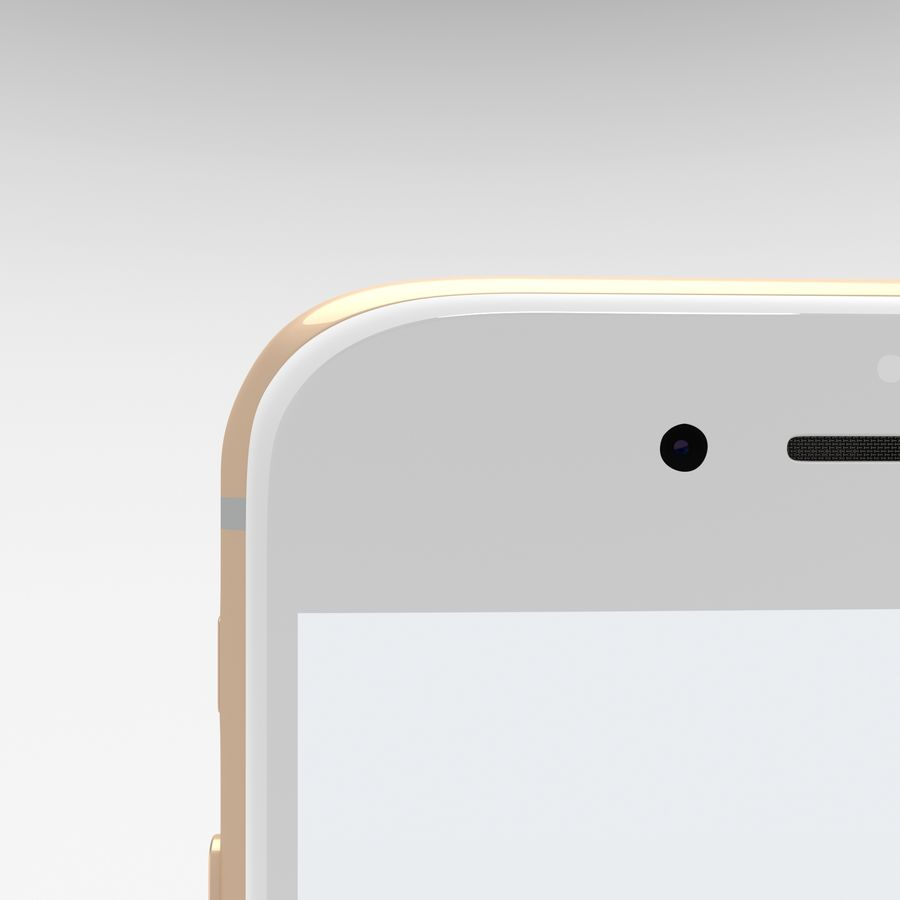 Iphone 6S Gold royalty-free modelo 3d - Preview no. 10