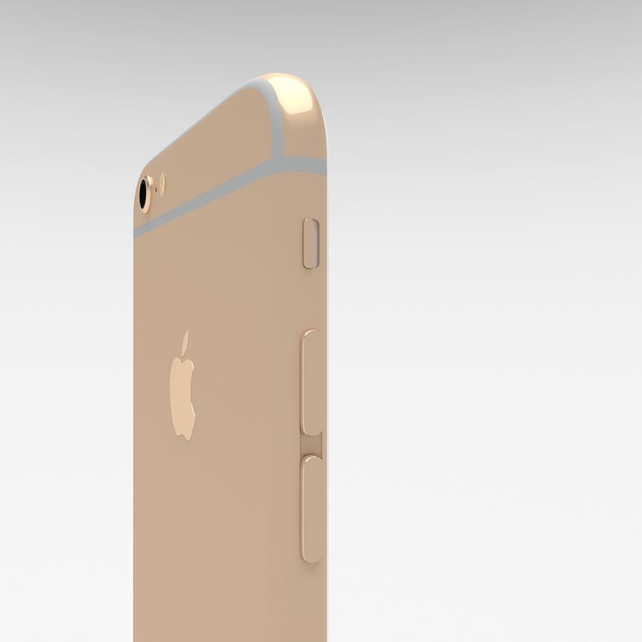 Iphone 6S Gold royalty-free modelo 3d - Preview no. 8