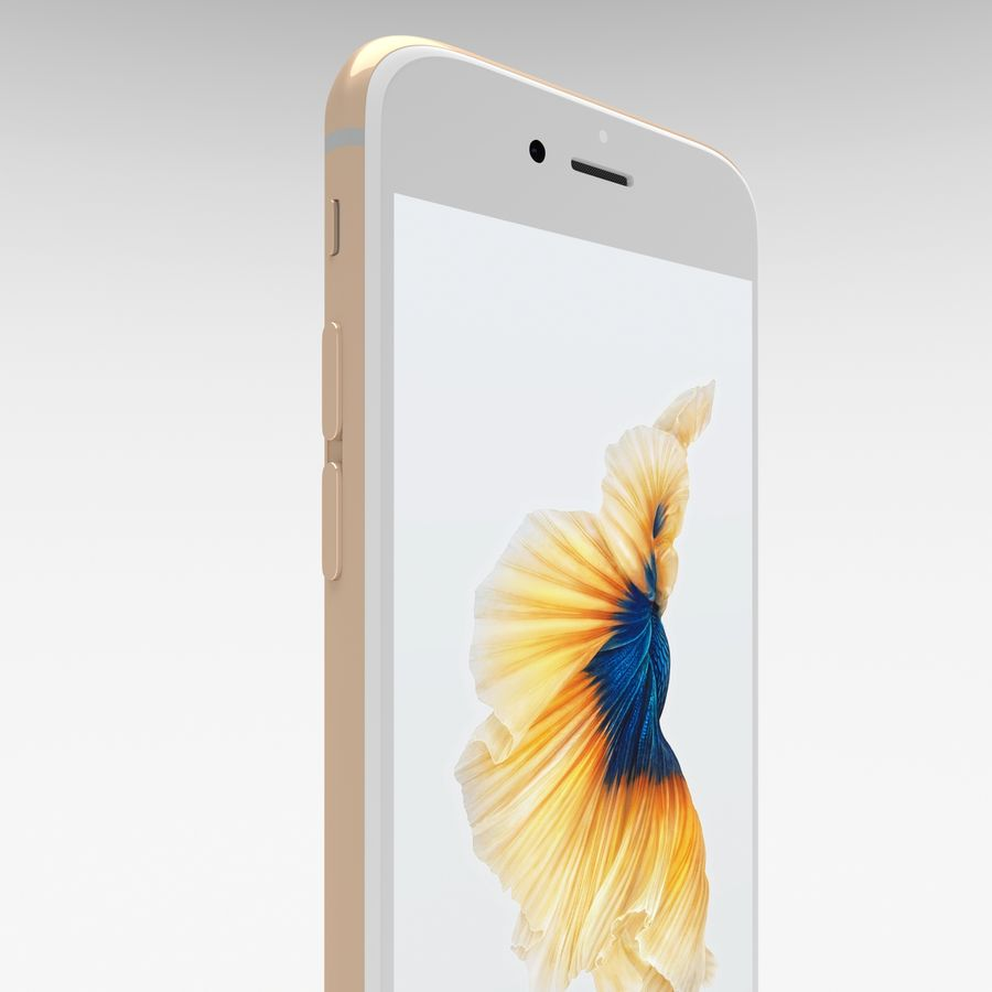 Iphone 6S Gold royalty-free modelo 3d - Preview no. 12