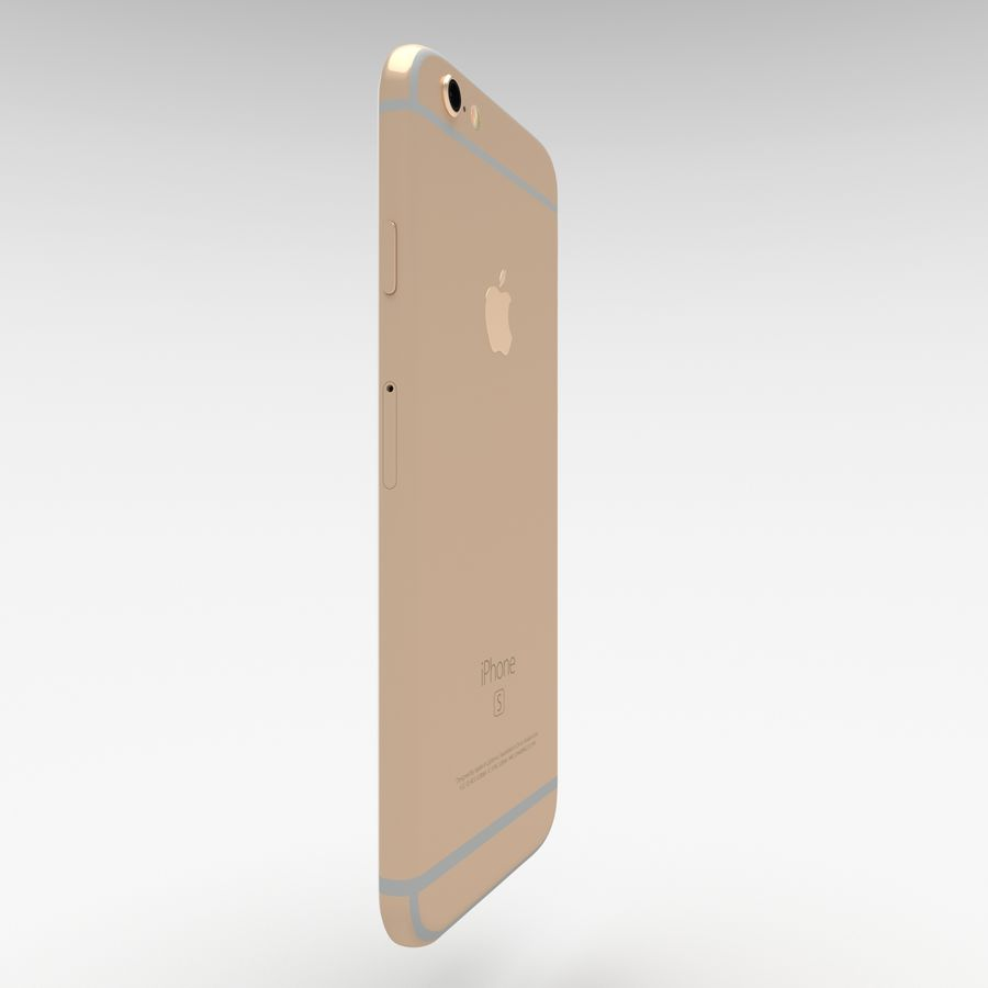 Iphone 6S Gold royalty-free modelo 3d - Preview no. 7