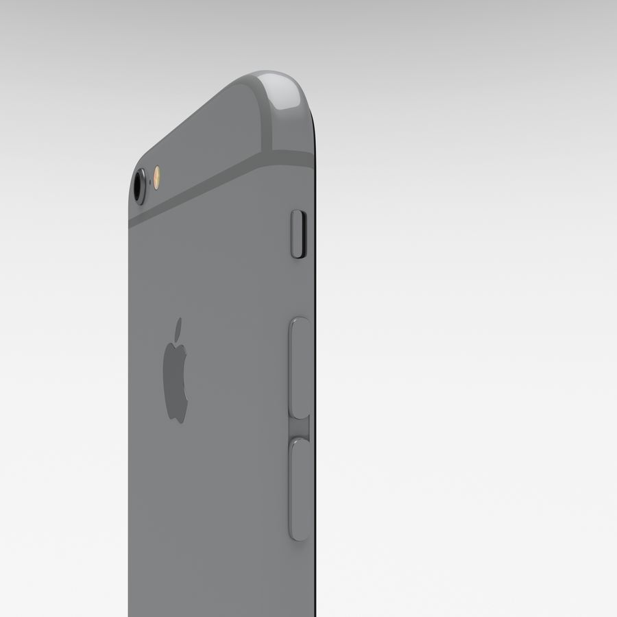 Iphone 6S Space Grey royalty-free 3d model - Preview no. 14