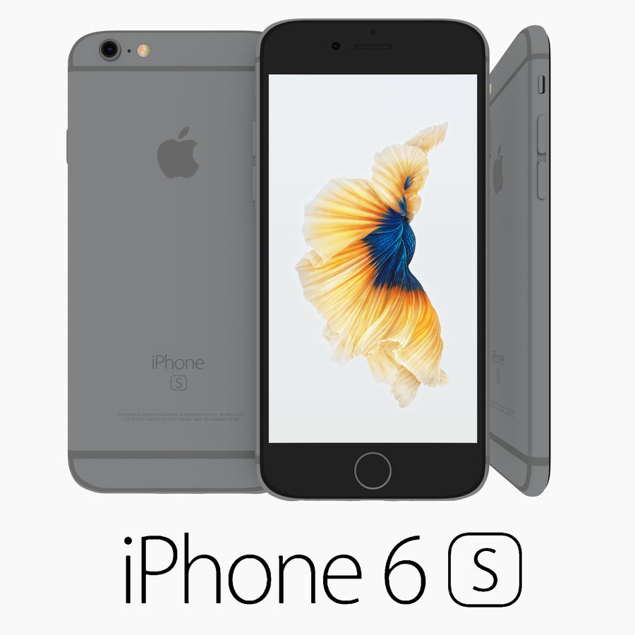 Iphone 6S Space Grey royalty-free 3d model - Preview no. 1