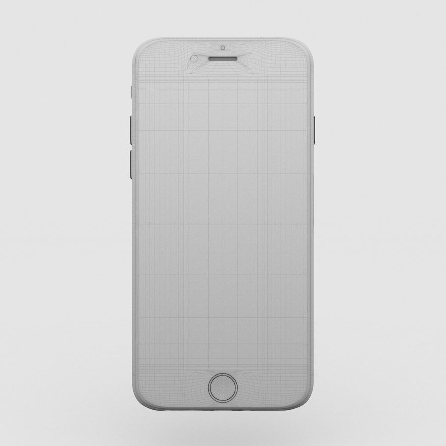 Iphone 6S Space Grey royalty-free 3d model - Preview no. 4