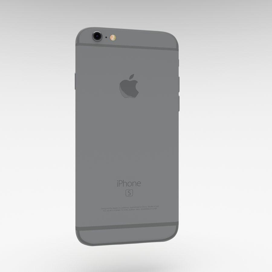 Iphone 6S Espaço Cinza royalty-free 3d model - Preview no. 10