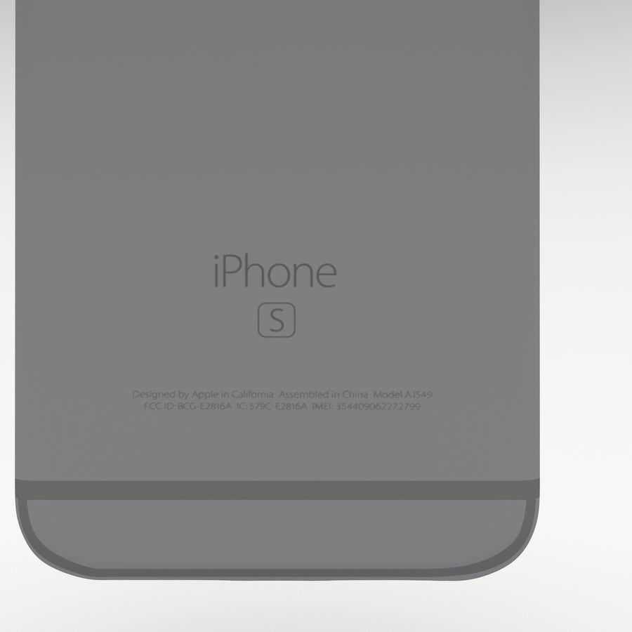 Iphone 6S Espaço Cinza royalty-free 3d model - Preview no. 12