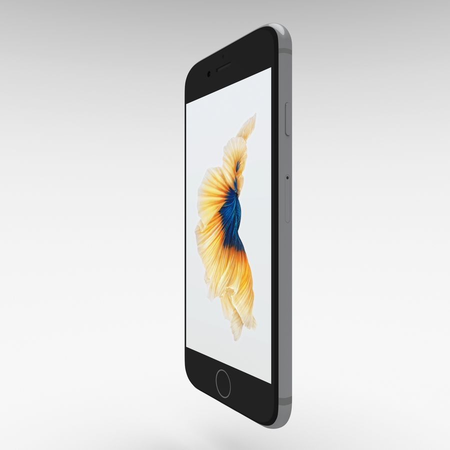 Iphone 6S Espaço Cinza royalty-free 3d model - Preview no. 5