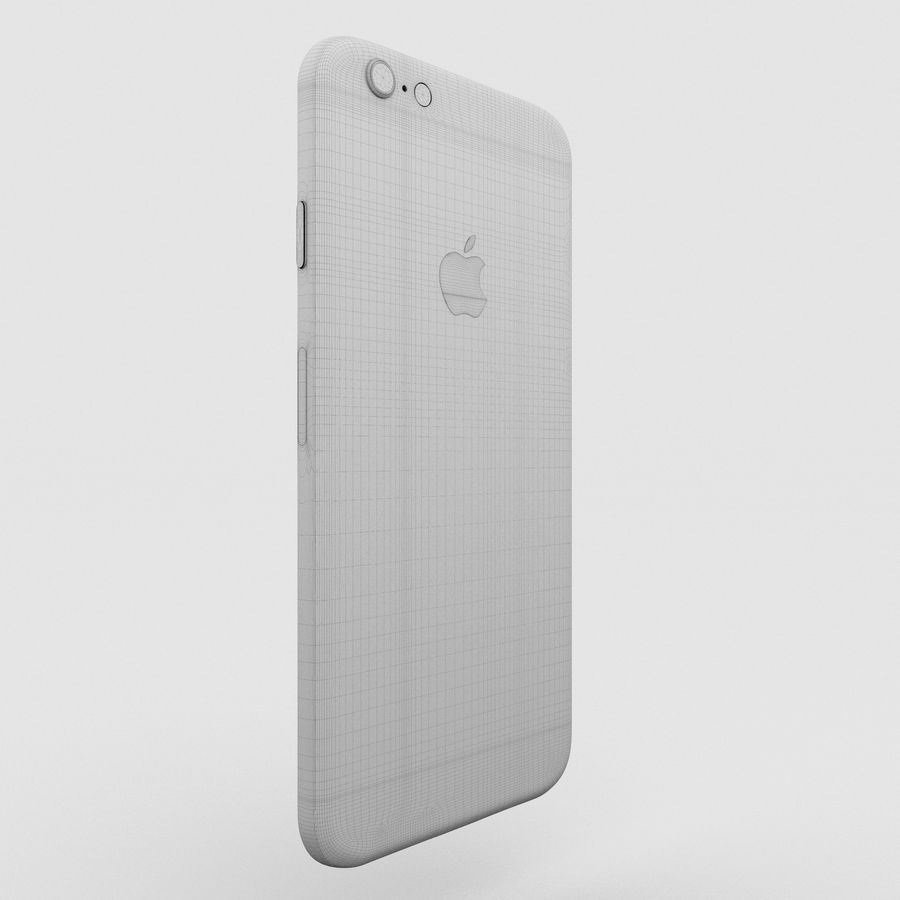 Iphone 6S Space Grey royalty-free 3d model - Preview no. 8