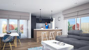 Living Dining And Kitchen - Deakin 3d model