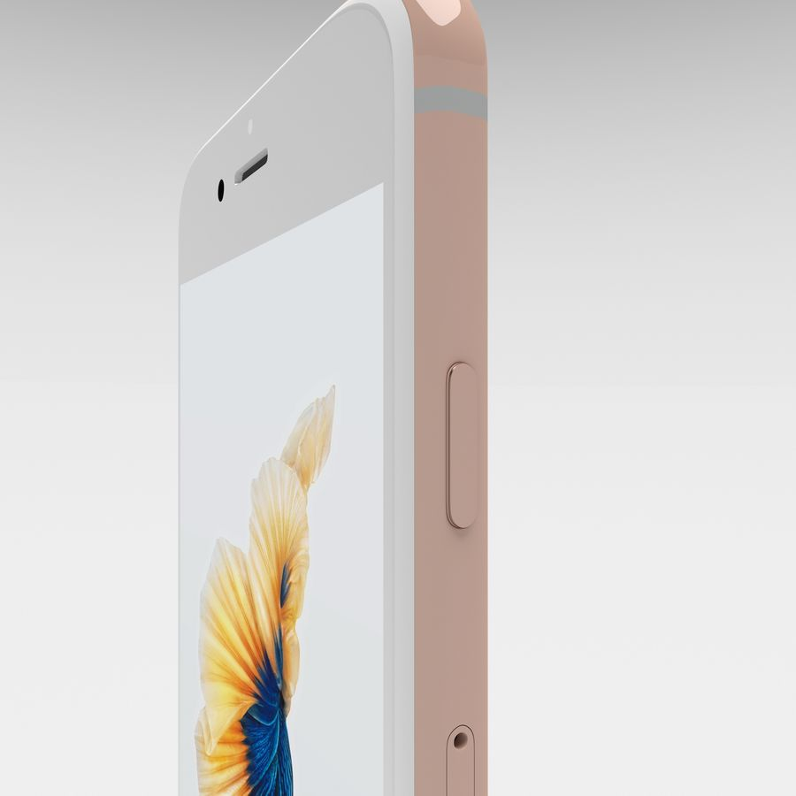 Iphone 6S Rose Gold royalty-free modelo 3d - Preview no. 22
