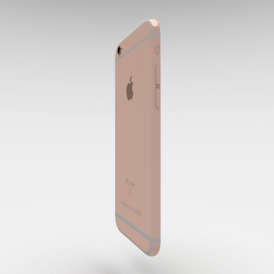 Iphone 6S Rose Gold royalty-free modelo 3d - Preview no. 3