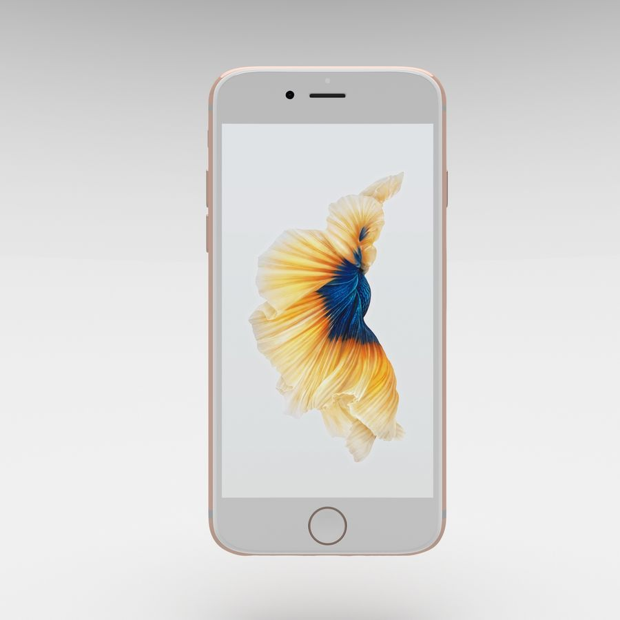 Iphone 6S Rose Gold royalty-free modelo 3d - Preview no. 7