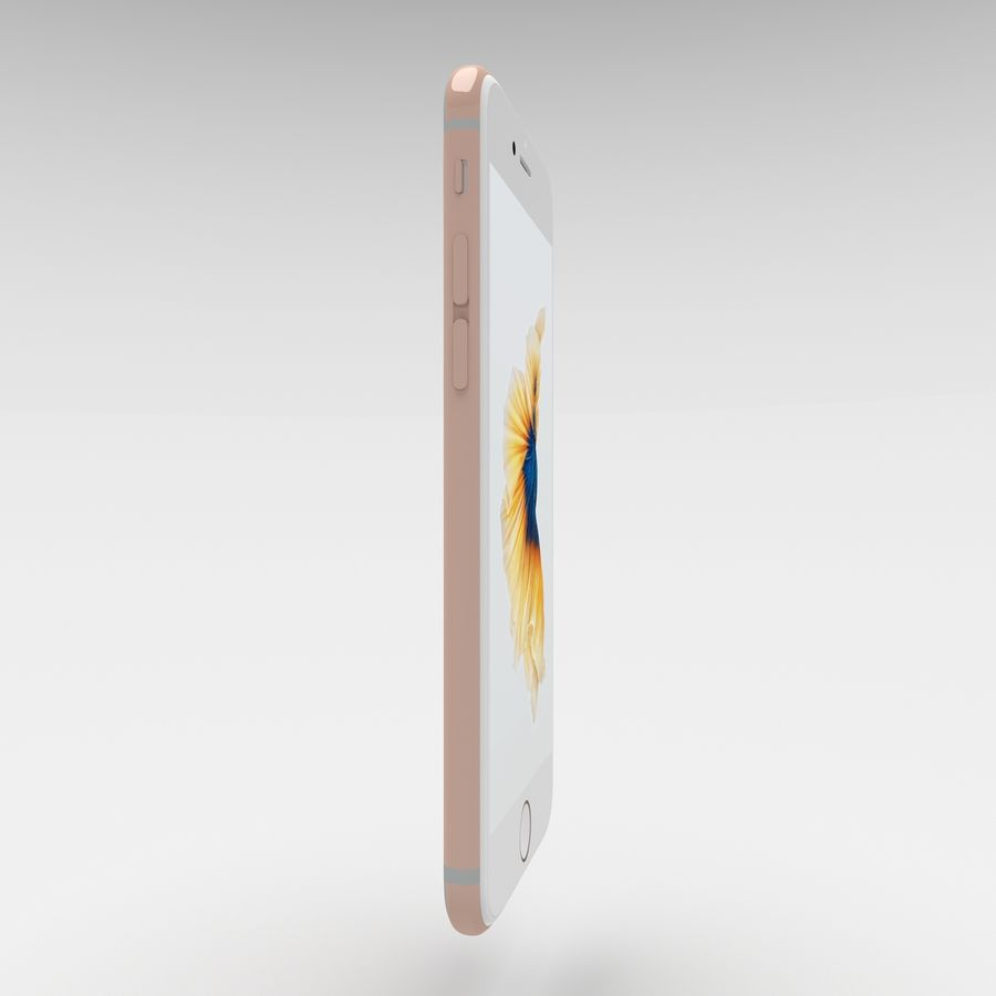 Iphone 6S Rose Gold royalty-free modelo 3d - Preview no. 4