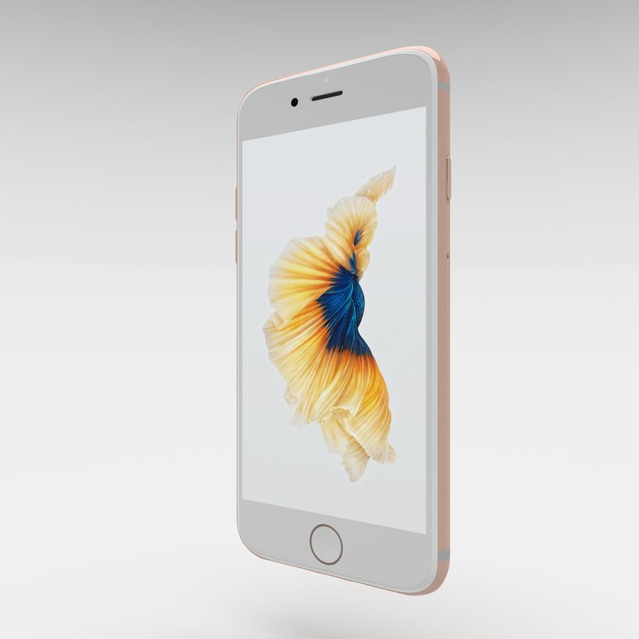 Iphone 6S Rose Gold royalty-free modelo 3d - Preview no. 9