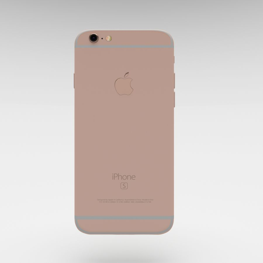 Iphone 6S Rose Gold royalty-free modelo 3d - Preview no. 13