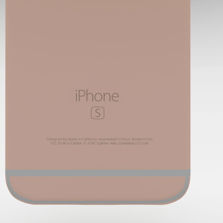 Iphone 6S Rose Gold royalty-free modelo 3d - Preview no. 17