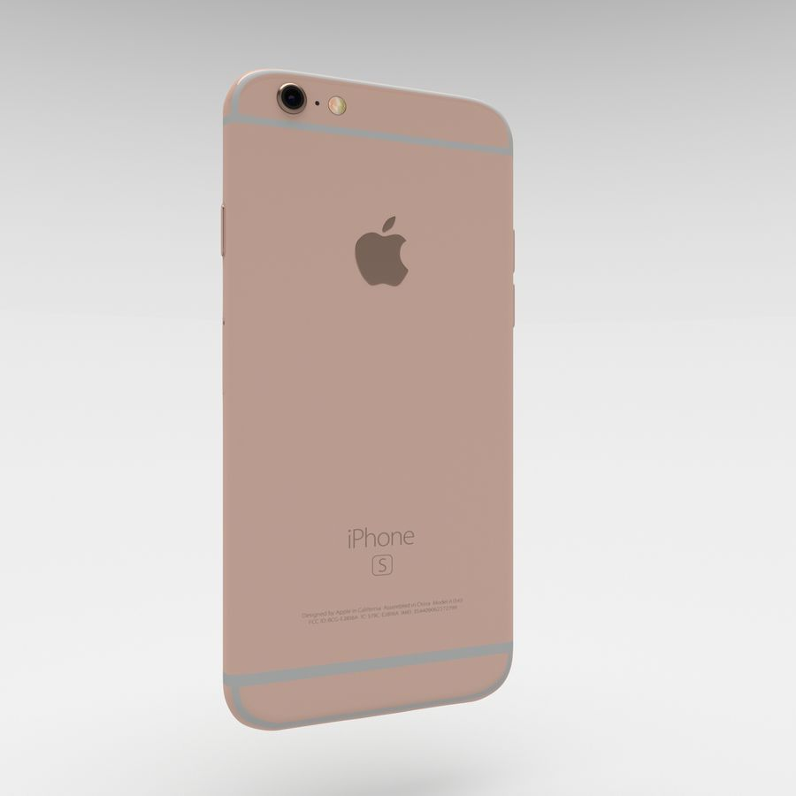 Iphone 6S Rose Gold royalty-free modelo 3d - Preview no. 15