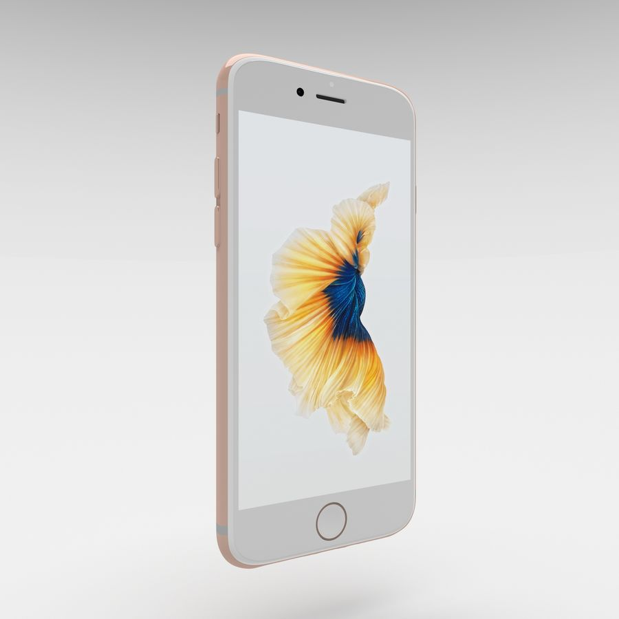 Iphone 6S Rose Gold royalty-free modelo 3d - Preview no. 5