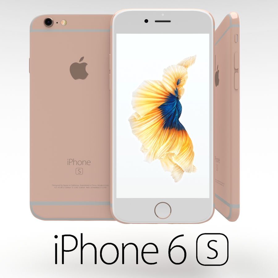 Iphone 6S Rose Gold royalty-free modelo 3d - Preview no. 1