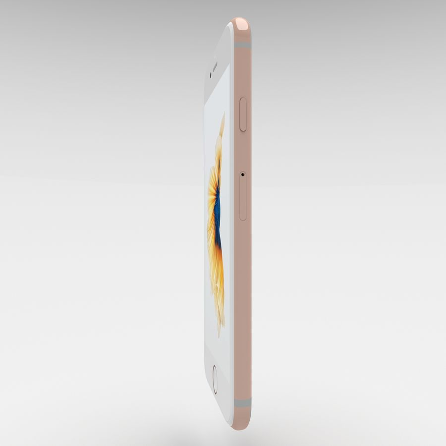 Iphone 6S Rose Gold royalty-free modelo 3d - Preview no. 11