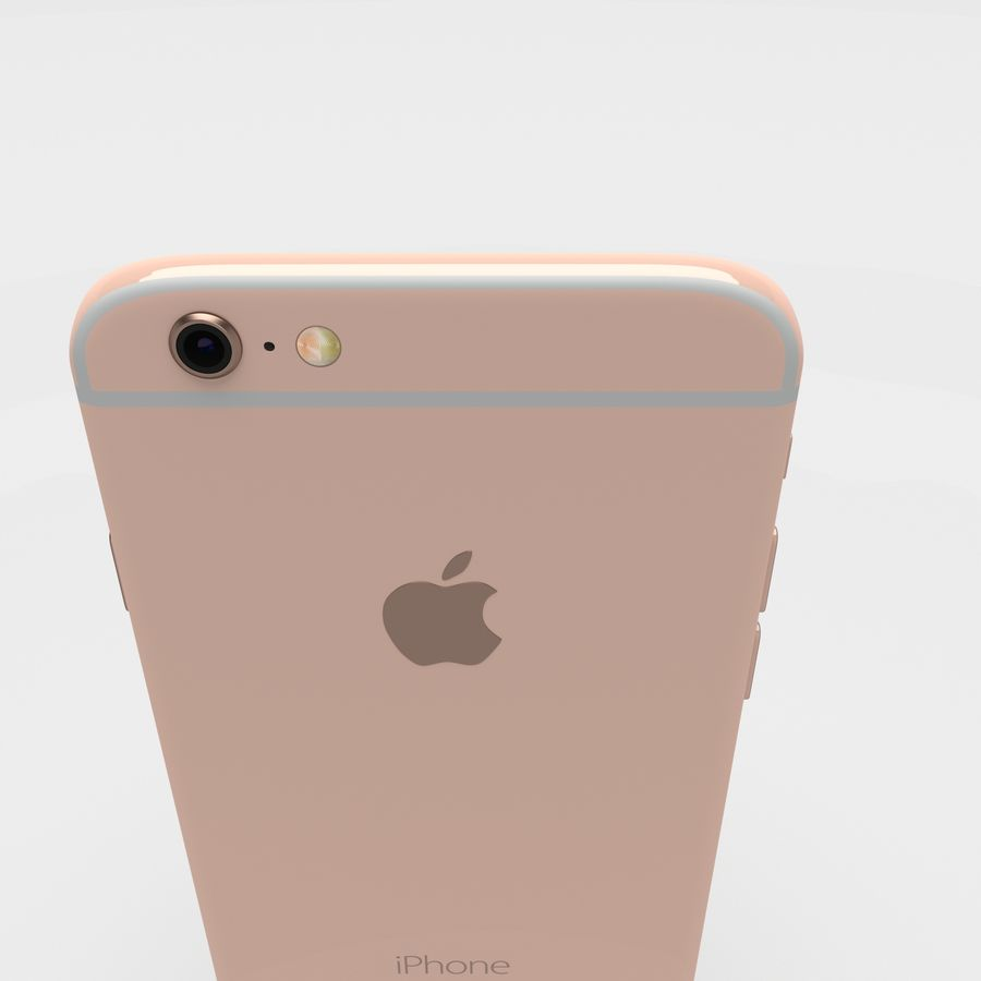 Iphone 6S Rose Gold royalty-free modelo 3d - Preview no. 21