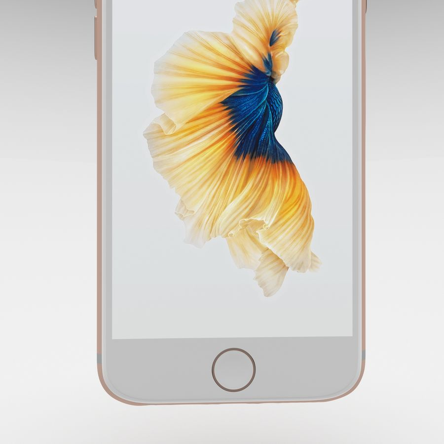 Iphone 6S Rose Gold royalty-free modelo 3d - Preview no. 26