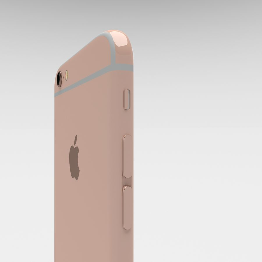 Iphone 6S Rose Gold royalty-free modelo 3d - Preview no. 19