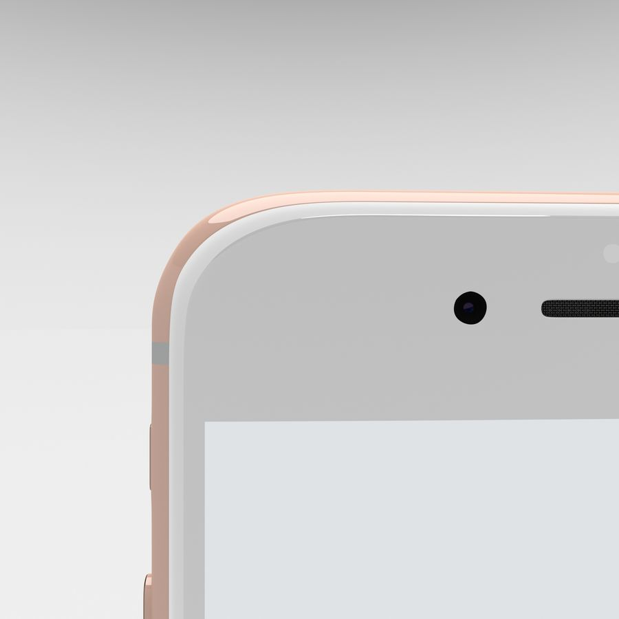 Iphone 6S Rose Gold royalty-free modelo 3d - Preview no. 24