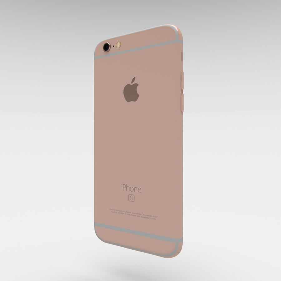 Iphone 6S Rose Gold royalty-free modelo 3d - Preview no. 2