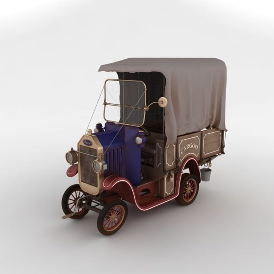 cartoon car cargo royalty-free 3d model - Preview no. 39