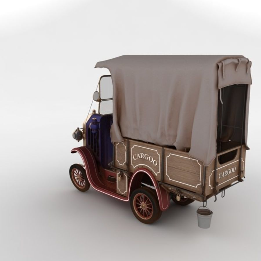 cartoon car cargo royalty-free 3d model - Preview no. 30