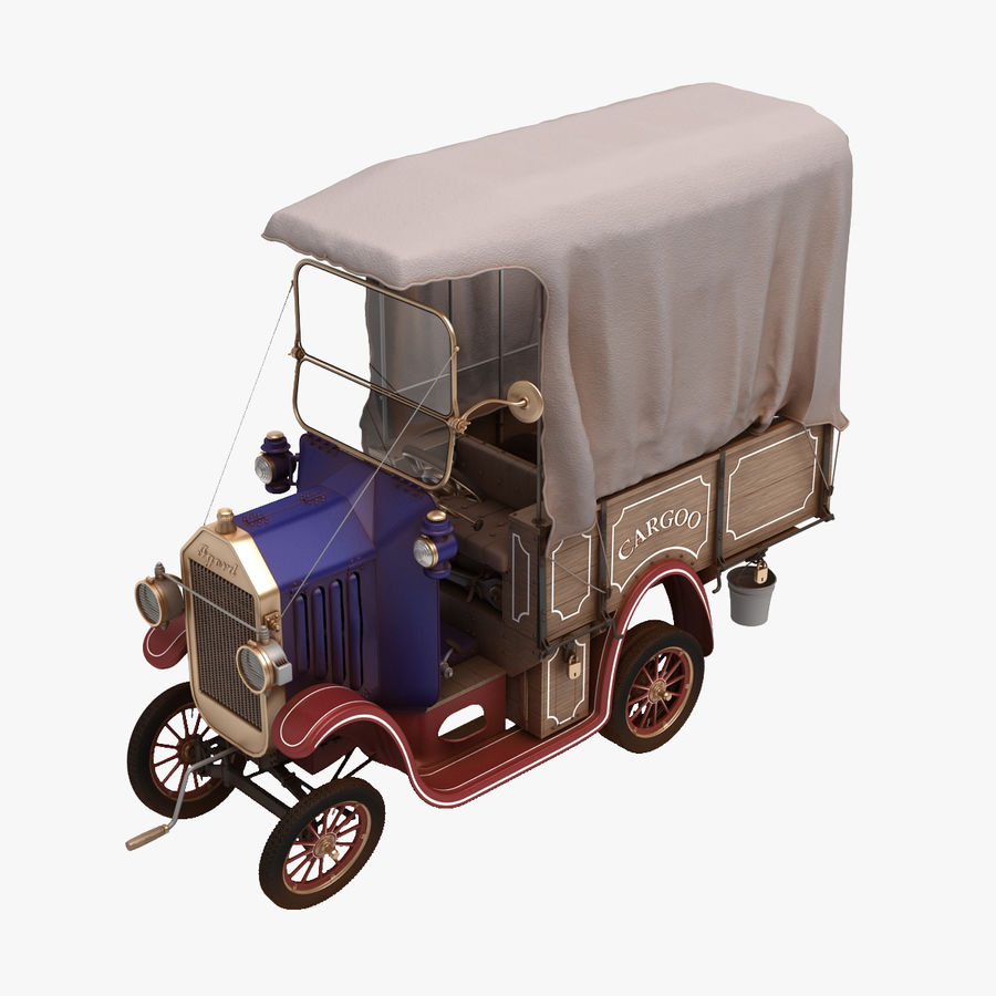 cartoon car cargo royalty-free 3d model - Preview no. 1