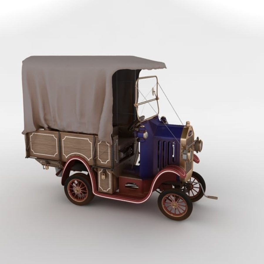 cartoon car cargo royalty-free 3d model - Preview no. 14