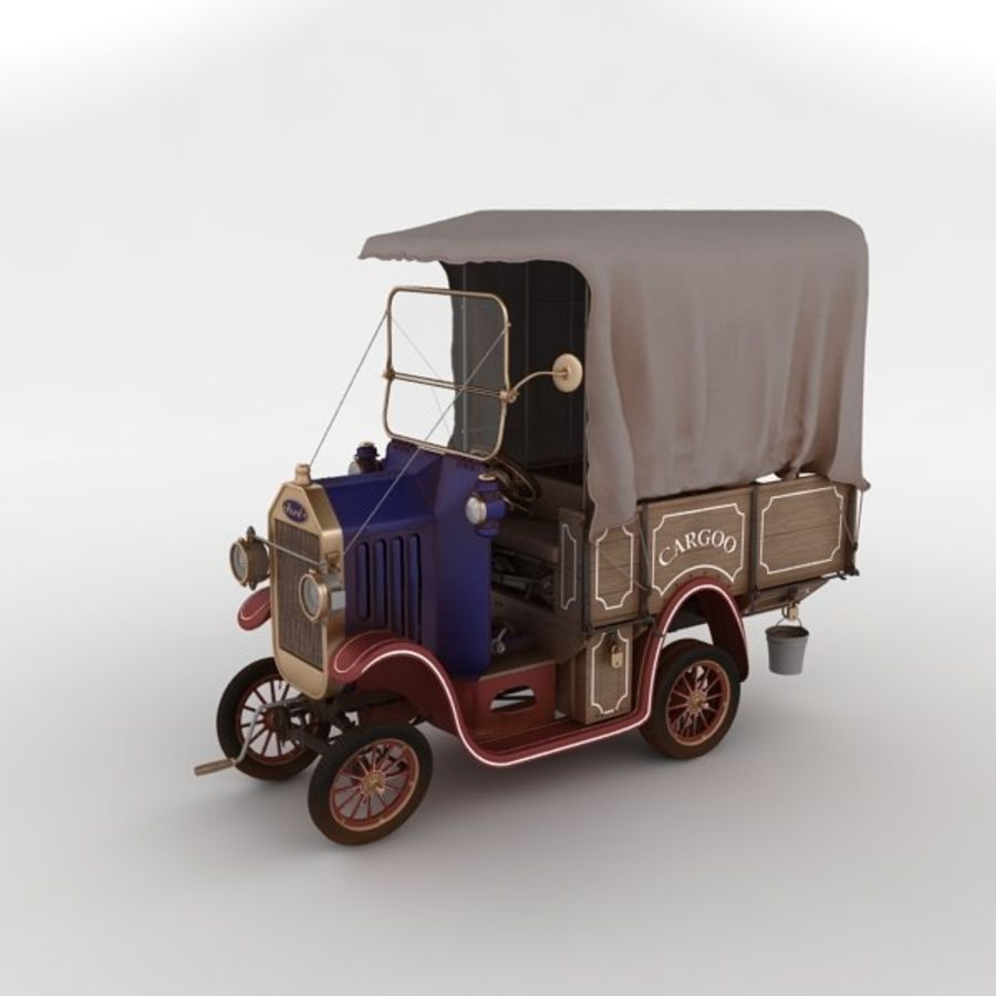 cartoon car cargo royalty-free 3d model - Preview no. 38