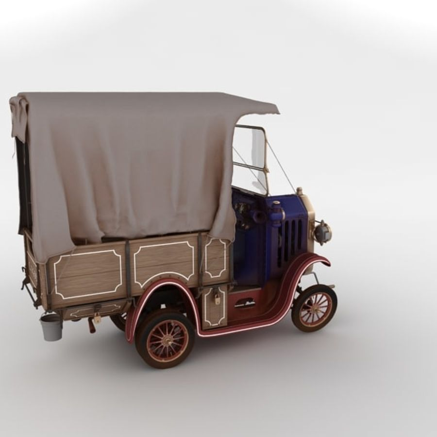 cartoon car cargo royalty-free 3d model - Preview no. 19