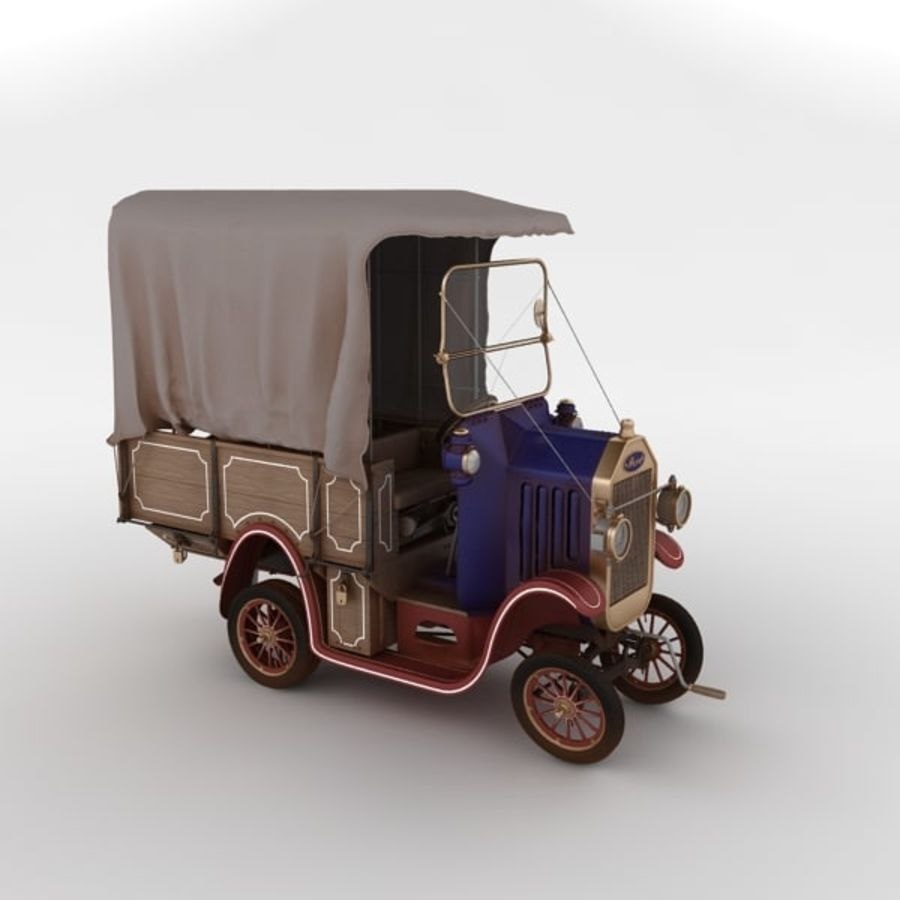 cartoon car cargo royalty-free 3d model - Preview no. 13