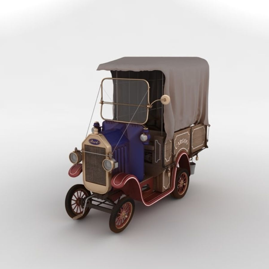 cartoon car cargo royalty-free 3d model - Preview no. 4