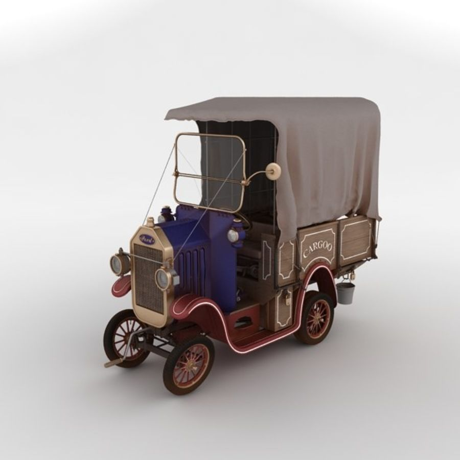 cartoon car cargo royalty-free 3d model - Preview no. 3