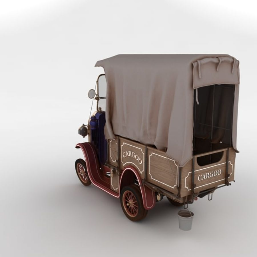 cartoon car cargo royalty-free 3d model - Preview no. 29