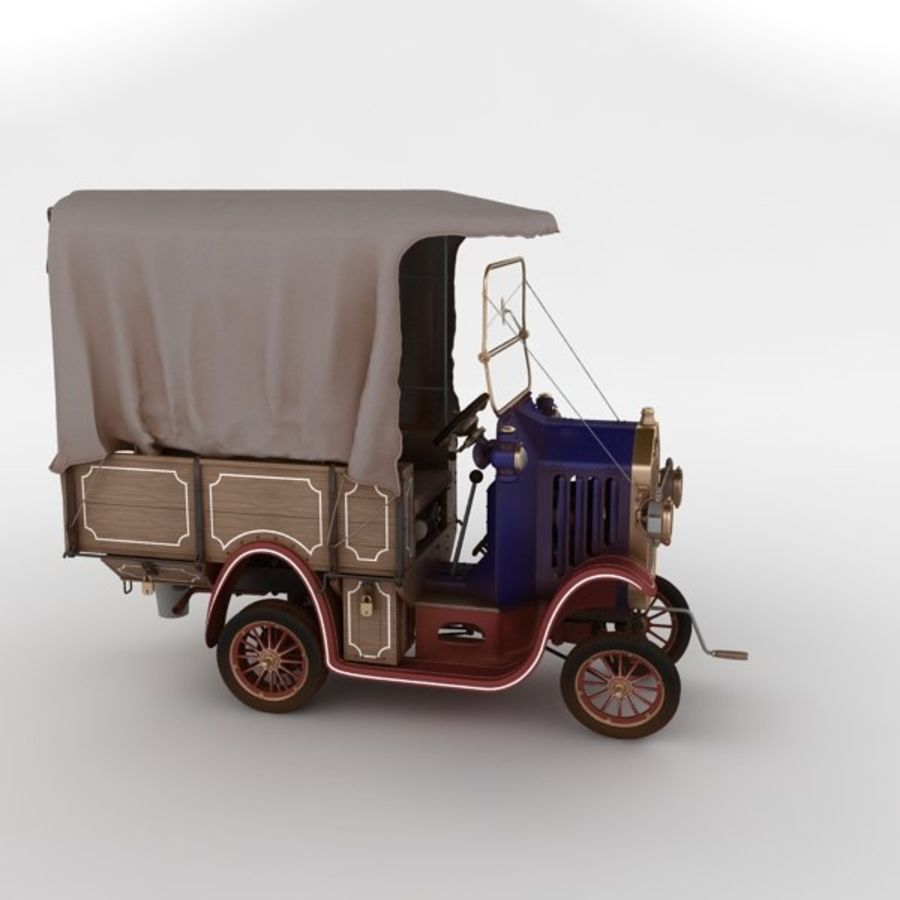 cartoon car cargo royalty-free 3d model - Preview no. 15