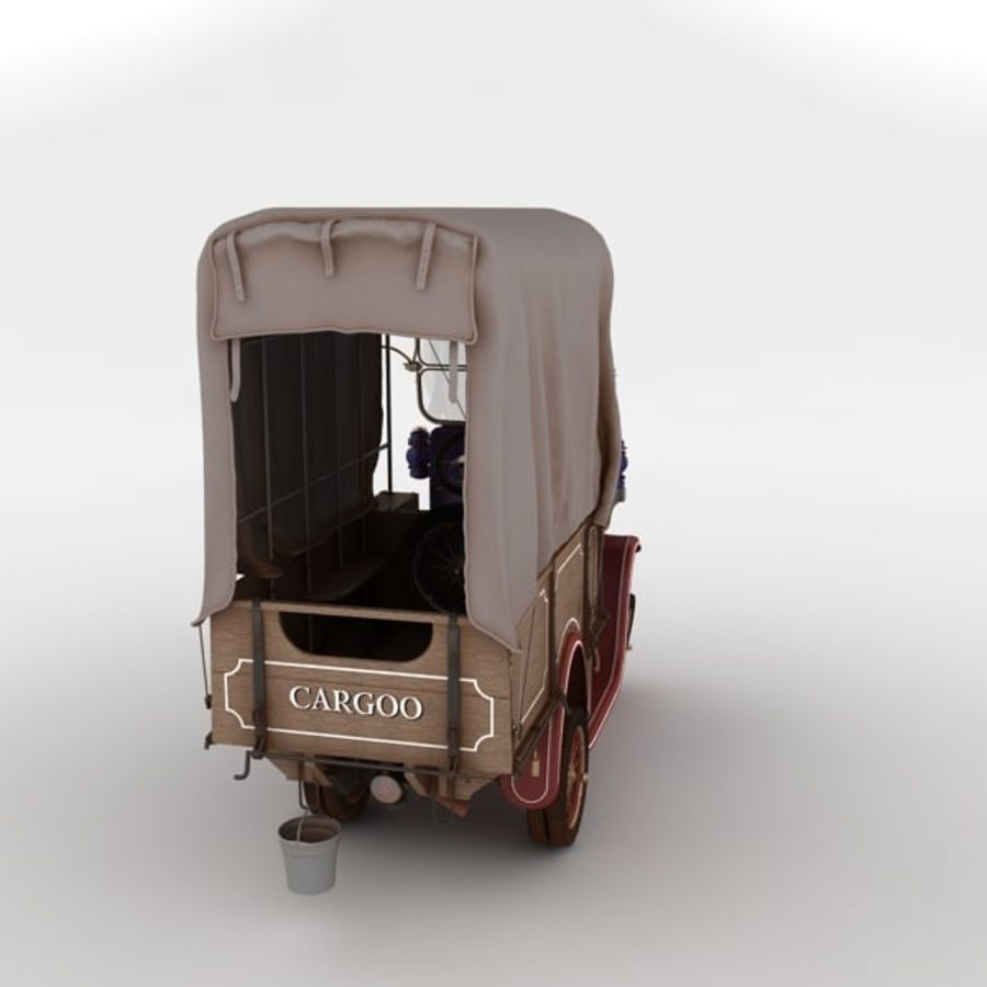 cartoon car cargo royalty-free 3d model - Preview no. 24