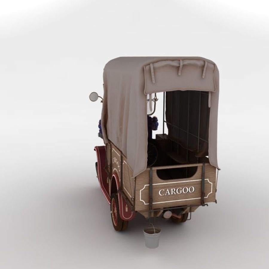 cartoon car cargo royalty-free 3d model - Preview no. 27