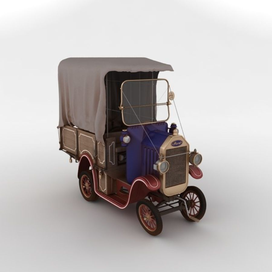 cartoon car cargo royalty-free 3d model - Preview no. 11