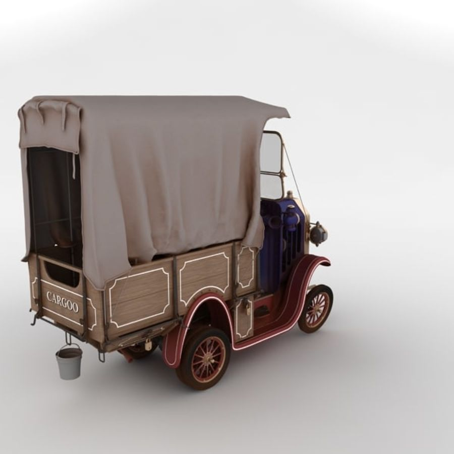 cartoon car cargo royalty-free 3d model - Preview no. 21