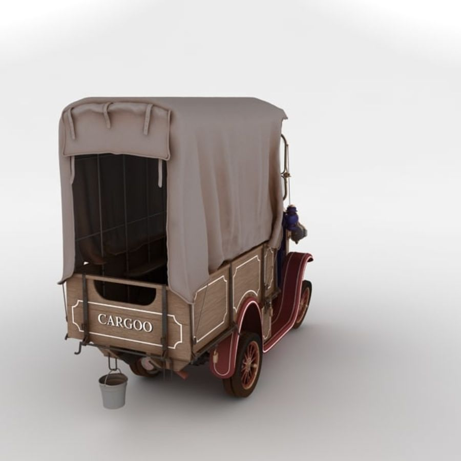 cartoon car cargo royalty-free 3d model - Preview no. 23