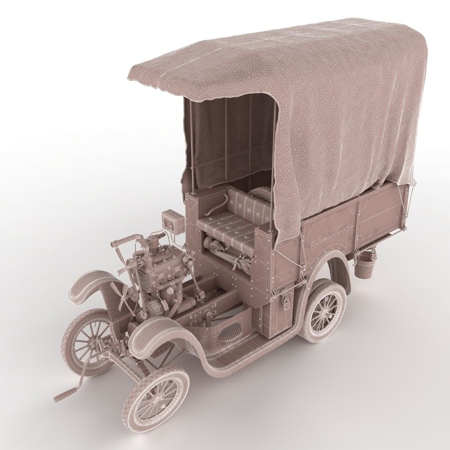 cartoon car cargo royalty-free 3d model - Preview no. 59