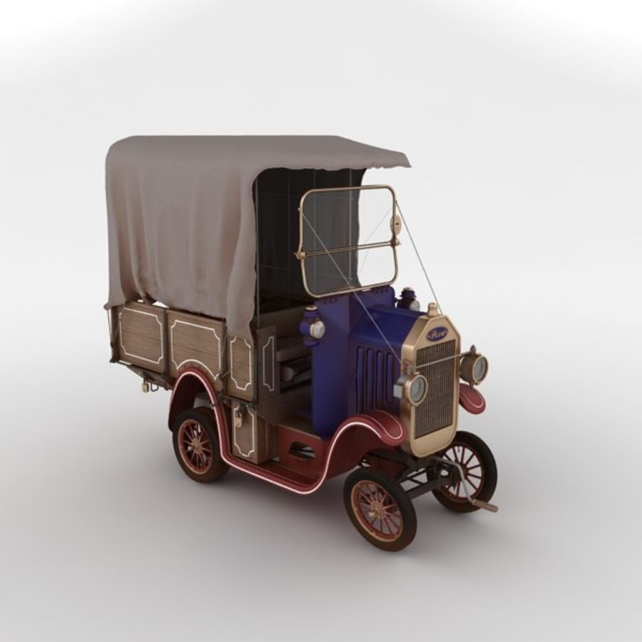 cartoon car cargo royalty-free 3d model - Preview no. 12