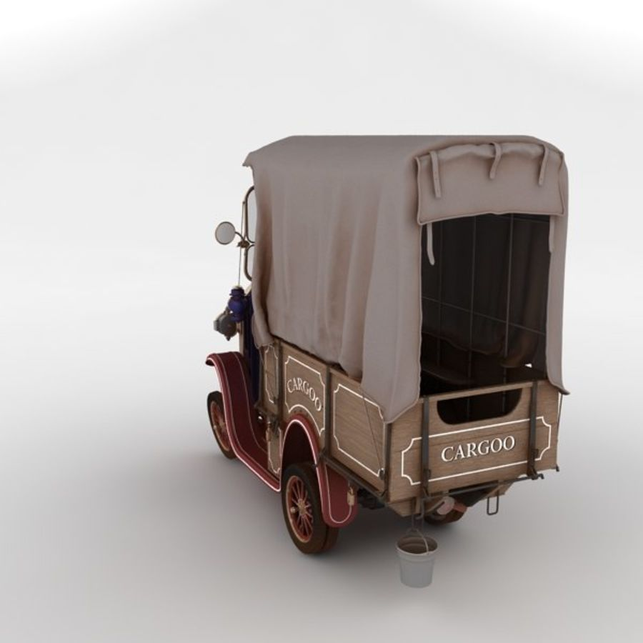 cartoon car cargo royalty-free 3d model - Preview no. 28